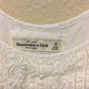 Abercrombie White Lace Romper